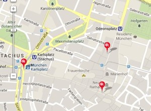 Wenn - wie in München - mehrere Hugendubel-Filialen in Laufweite beieinander liegen, macht die mobile Verfügbarkeitsabfrage besonders viel Sinn