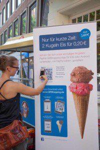 Zu den größten Nutznießern der QRShopping-Kampagne zählt ein Oldenburger Eisgeschäft