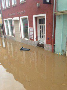 Land unter: Das Juni-Hochwasser bereitete den Plänen von NeueTischkultur 2013 erst einmal ein Ende