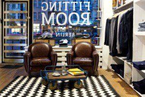 Exklusiv und gemütlich - so stellt sich Modomoto seine Fitting Rooms vor