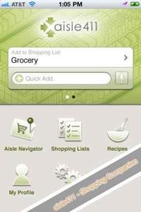 Die aisle411-App verbindet Instore-Navigation mit Einkaufslisten und Rezepten