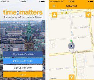 Kunden können time:matters ähnlich dem MyTaxi-Prinzip auch per App buchen