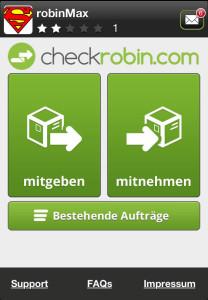Neben der Webseite ist die App der zentrale Zugangskanal zu Checkrobin