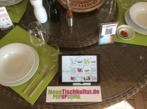 """Showroom-Modul mit Online-Bestellmöglichkeit - der NeueTischkultur-""""Pop Up Store"""" im Gartencenter Demmelhuber"""