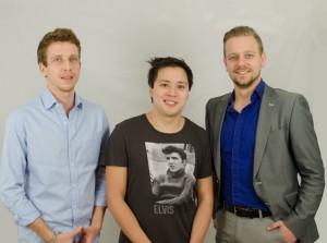 Das Hierbeidir-Gründerteam: Philipp Bohne, Nam Vo und Benjamin Haack