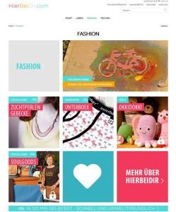 Nachhaltig, aber nicht altmodisch: Das Website-Design von Hierbeidir.com