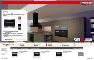 Seit Anfang 2014 ist der Gerätevisualisierer auch in den Online-Auftritt von Miele integriert