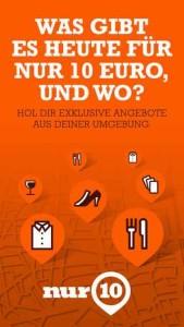 Die App nur10 wird nach Köln bald auch in anderen Städten starten
