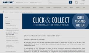 Click & Collect soll Online-Geschäft und Filialen von Karstadt verzahnen
