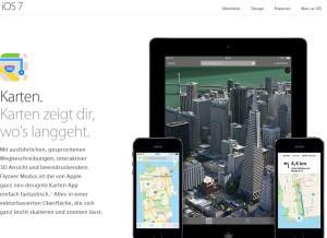 Apple ios 7 Karten Maps