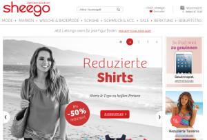 Sheego Webseite
