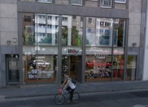 Das Stammgeschäft von Leder Stoll in der Frankfurter Innenstadt