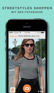 Zalando app mit Fotoerkennung