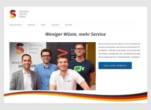 """""""Weniger Wüste, mehr Service"""" lautet das Motto der von Einfach-machen-lassen mitgegründeten Deutschen Service Allianz"""