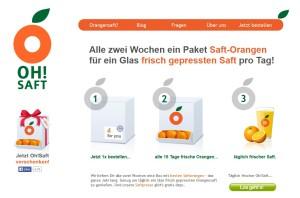 mymuesli-Zweitmarke: Das Frischgepresster-Orangensaft-Abo Oh!Saft