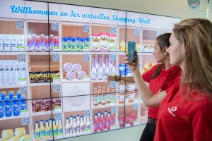 QR-Code-Shopping: das Virtual Shelf von Emmas Enkel auf dem Vodafone-Campus