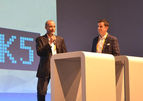 Die DeinDeal-Geschäftsführer  Amir Suissa und Adrian Locher