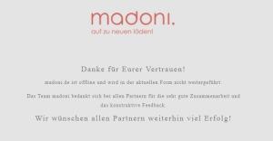 Ende Juli wurde Madoni.de eingestellt