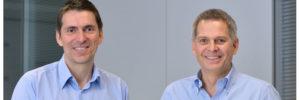 Pieter Haas von der Media-Saturn-Holding (rechts im Bild) und Idealo-Gründer Martin Sinner.