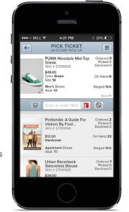 Mit Picking-Listen z.B. auf das Smartphone können Store-Mitarbeiter Bestellungen abwickeln