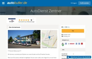 Eines der Werkstatt-Profile auf Autobutler.de