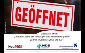 Grosse Handelsstudie 2014 kaufDA - Cover