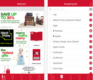 Die iOS-App von Target