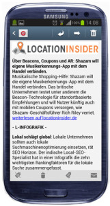 Location Insider Newsletter Smartphone