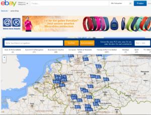 Mit der Hub-Seite verdeutlicht Aetka den lokalen Charakter seines eBay-Angebots