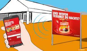 First-Mover MILFORD nutzt iBeacons-Technologie am POS / Beacons begleiten Plakatkampagne in 100 ausgewählten Märkten