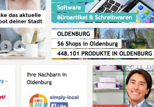 Oldenburg zählte zu den Start-Märkten von Simply-Local, doch ist das Händlerspektrum noch recht übersichtlich