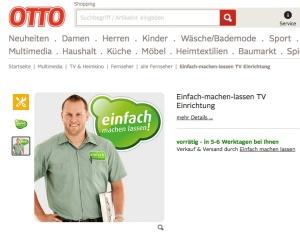 Einfach-machen-lassen ist nun auch bei Otto.de eingebunden