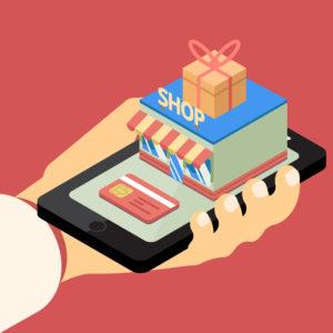 Mobile Commerce Smartphone Handel Store Laden Geschäft