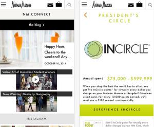 Neiman Marcus NM App MPayment Mobile Payment Bezahl