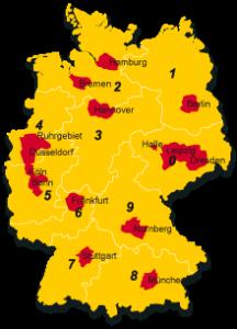 Mit der Präsenz in 14 Ballungsräumen soll DHL Kurier das Atalogics-Netzwerk ergänzen