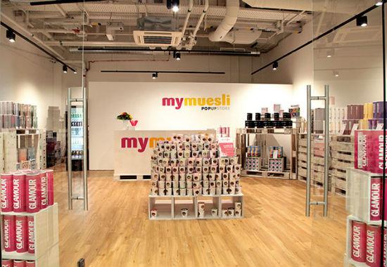 Der Popup-Store von mymuesli im Milaneo in Stuttgart