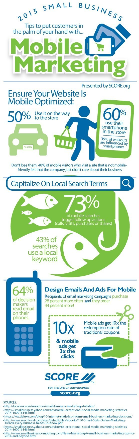 Score.org Infographic - The Importance of Mobile Marketing for Small Business