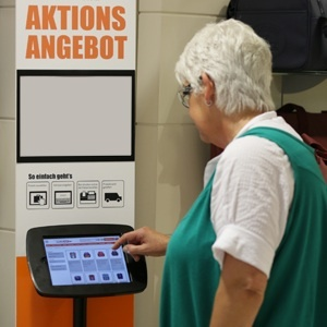 Neben der Verkäuferlösung gibt es Storeplus auch für Kunden-Terminals