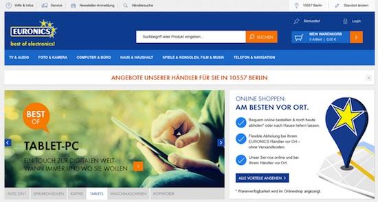 Der neue Euronics-Onlineshop setzt durchgängig auf Lokalisierung