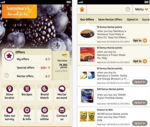 Aktuelle Sainsbury's-App