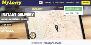 MyLorry Webseite