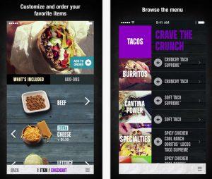 Aktuelle App von Taco Bell