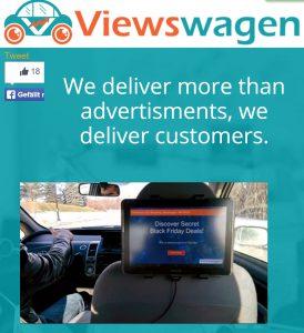 Viewswagen Tablet Werbung Uber Lyft SMB