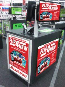 Am Point of Sale kann die Integration von Flip4New zusätzliche Anreize schaffen
