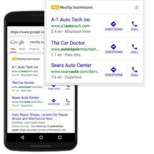 Standortbasierte Google-Suchanfrage (Quelle: Search Engine Land)