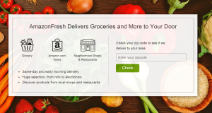 Amazon Fresh Webseite