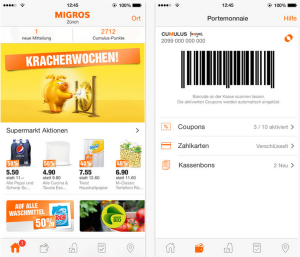 iOS-App von Migros