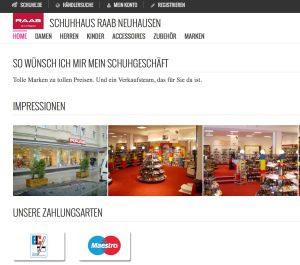 Schuhe.de fungiert auch als Online-Schaufenster für die angeschlossenen Geschäfte