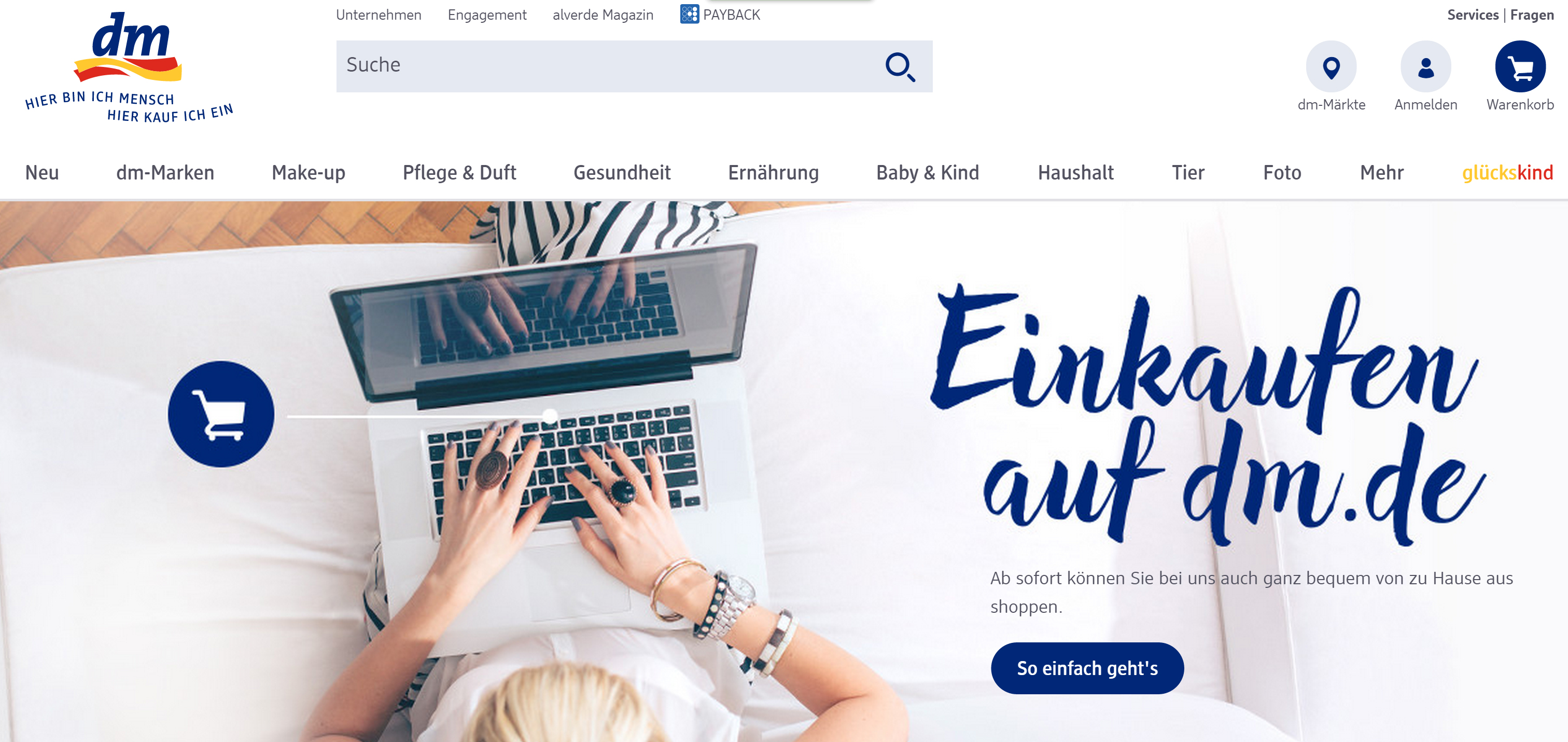 dm startet onlineshop in deutschland mankos inklusive. Black Bedroom Furniture Sets. Home Design Ideas