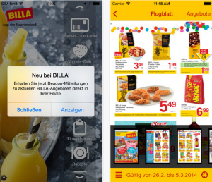 Billa App Beacon